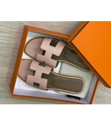 Женские сандалии шлепанцы Hermes (Гермес) летние кожаные Light Brown