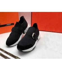 Женские кроссовки Hermes (Гермес) летние на ремешках Black