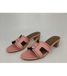 Женские сандалии Hermes (Гермес) Oasis кожаные Pink