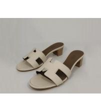 Женские сандалии Hermes (Гермес) Oasis кожаные White