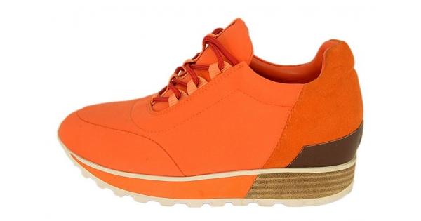 Кроссовки женские Hermes (Гермес) Orange - 14 950 руб.   Купить брендовую  обувь,ботинки,ботильоны,туфли,сапоги,мокасины,кроссовки,кеды.Купить  сумки,рюкзаки ... 2510f94130e