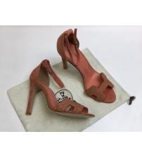 Женские босоножки Hermes ( Гермес) Premiere sandal летние текстиль на высоком каблуке шпилька Orange