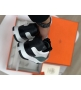 Женские кроссовки Hermes (Гермес) Trail кожаные на шнурках Green/White