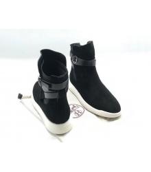 Женские кроссовки Hermes (Гермес) высокие Black