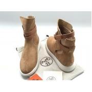 Женские кроссовки Hermes (Гермес) высокие Brown