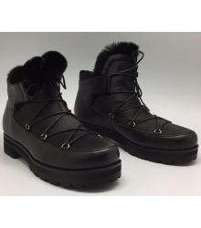 Ботинки зимние женские Jimmy Choo (Джимми Чу) Black