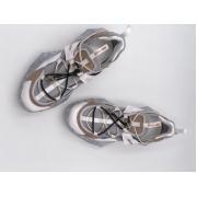 Женские кроссовки Jimmy Choo (Джимми Чу) кожаные White