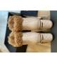 Ботильоны женские Le Silla (Ле Силла) St.Moritz Trekking кожаные толстый каблук мех овчина Beige