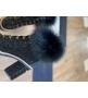 Ботильоны женские Le Silla (Ле Силла) St.Moritz Trekking кожаные толстый каблук на меху Black