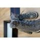 Ботильоны женские Le Silla (Ле Силла) St.Moritz Trekking кожаные толстый каблук со стразами Gray