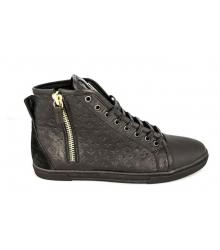 Мужские кроссовки Louis Vuitton (Луи Виттон) Black/Leather