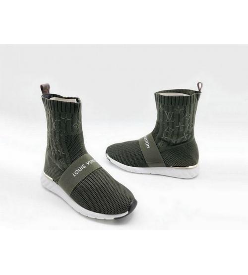 Женские кроссовки-носки Louis Vuitton (Луи Виттон) Aftergame Green