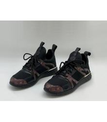 Женские кроссовки Louis Vuitton (Луи Виттон) Aftergame Комбинированные летние Black/Brown
