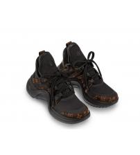Женские кроссовки Louis Vuitton (Луи Виттон) Archlight кожаные Brown