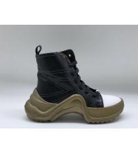 Женские ботинки Louis Vuitton (Луи Виттон) Archlight кожаные на шнурках Black