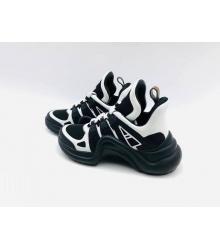 Женские кроссовки Louis Vuitton (Луи Виттон) Archlight LUX комбинированные Black