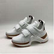 Женские кроссовки Louis Vuitton (Луи Виттон) Archlight LUX на липучке White/Brown