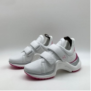 Женские кроссовки Louis Vuitton (Луи Виттон) Archlight LUX на липучке White/Pink