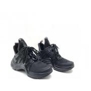 Женские кроссовки Louis Vuitton (Луи Виттон) Archlight LUX на шнурках Black