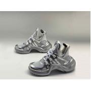 Женские кроссовки Louis Vuitton (Луи Виттон) Archlight LUX на шнурках Silver