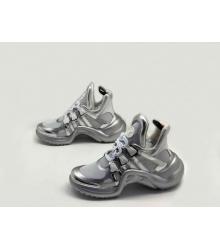 Женские кроссовки Louis Vuitton (Луи Виттон) Archlight на шнурках Silver