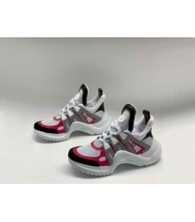 Женские кроссовки Louis Vuitton (Луи Виттон) Archlight LUX на шнурках White/Red/Black