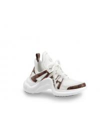 Женские кроссовки Louis Vuitton (Луи Виттон) Archlight LUX на шнурках White