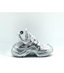 38d7dcc258b6 Скидки Женские кроссовки Louis Vuitton (Луи Виттон) Archlight LUX на  шнурках Silver