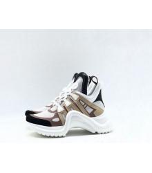 Женские кроссовки Louis Vuitton (Луи Виттон) Archlight LUX White/Brown/Beige