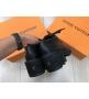 Дерби женские Louis Vuitton (Луи Виттон) Beaubourg кожаные на платформе Black