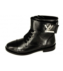 Ботинки женские Louis Vuitton (Луи Виттон) Black/Black