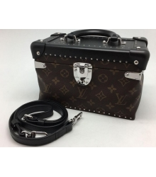 Женская сумка Louis Vuitton (Луи Виттон) Black/Brown