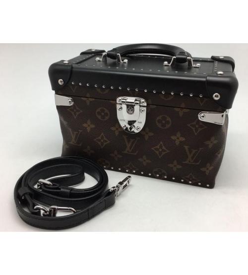 Женская сумка Louis Vuitton (Луи Виттон) Black/Brown