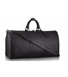 Дорожная сумка Louis Vuitton (Луи Виттон) Damier Infini Black