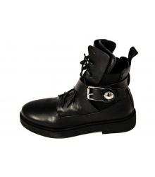 Ботинки женские Louis Vuitton (Луи Виттон) Black/Silver