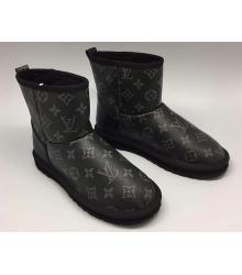 Угг женские Louis Vuitton (Луи Виттон) Black