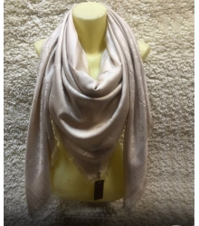 Палантин Louis Vuitton (Луи Виттон) брендовый шёлк люрекс шерсть Beige