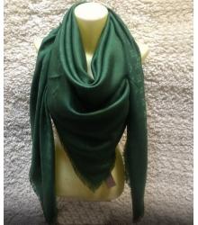 Платок женский Louis Vuitton (Луи Виттон) брендовый шёлк люрекс шерсть Green
