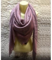 Палантин Louis Vuitton (Луи Виттон) брендовый шёлк люрекс шерсть Pink