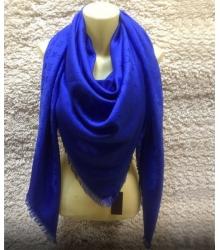 Палантин Louis Vuitton (Луи Виттон) брендовый шёлк шерсть Blue