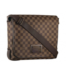 Сумка мужская Louis Vuitton (Луи Виттон) Brooklyn MM Damier Brown