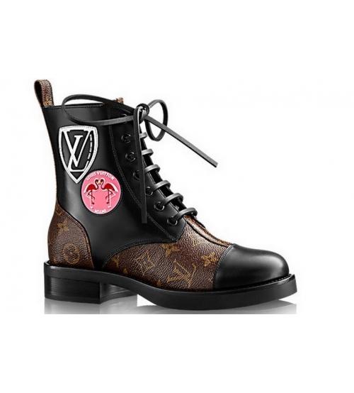 Ботинки женские Louis Vuitton (Луи Виттон) Brown