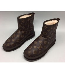 Угг женские Louis Vuitton (Луи Виттон) Brown