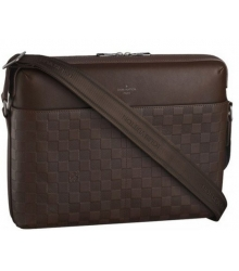 Сумка мужская Louis Vuitton (Луи Виттон) Calypso MM Meteor Brown