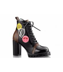 Ботинки женские Louis Vuitton (Луи Виттон) CheckPoint Brown