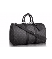 Сумка дорожная Louis Vuitton (Луи Виттон) Dark Grey/Black