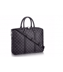Портфель мужской Louis Vuitton (Луи Виттон) Dark Grey Black