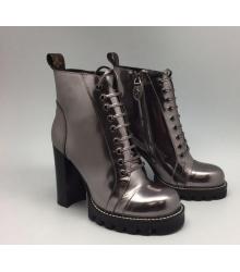 Ботильоны женские Louis Vuitton (Луи Виттон) Dark Silver