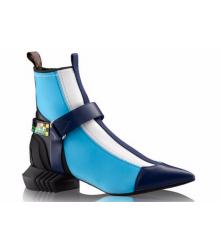 Ботильоны женские Louis Vuitton (Луи Виттон) Deep Sea Blue