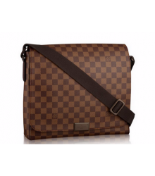 Сумка мужская Louis Vuitton (Луи Виттон) Canvas District PM Macassar Brown